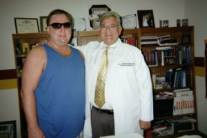 Robert with Dr. Louis