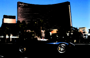 Robert driving a Ferrari in Las Vegas